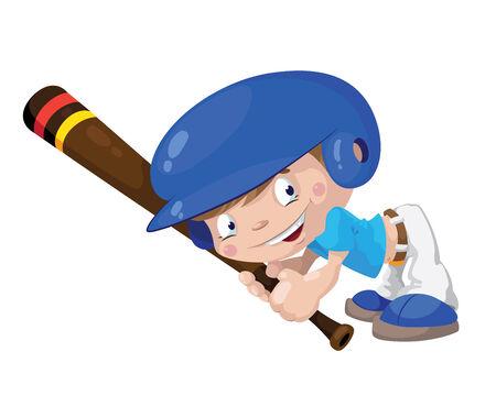 illustration of a smile baseball boy Иллюстрация