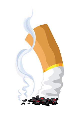 butt: illustration of a cigarette