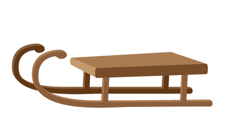 toboggan: illustration of a funny sled Illustration