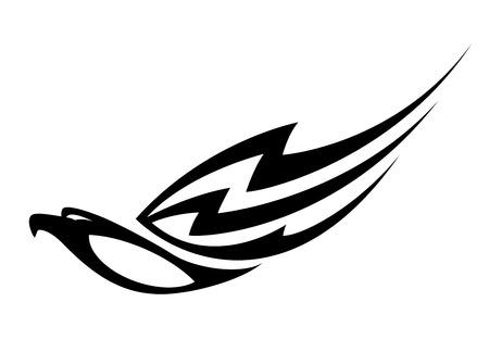 tatto: illustration of a black eagle