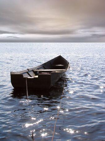 horison: boat, sea and horison