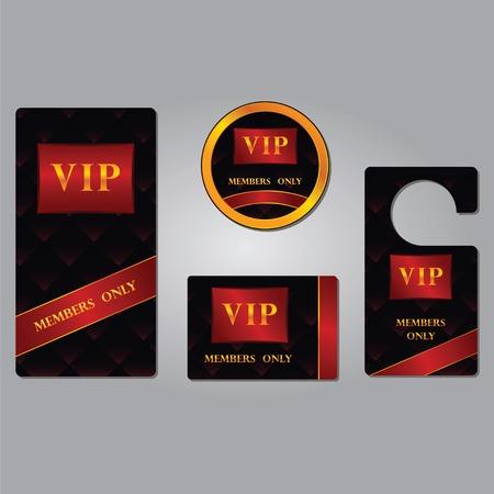 Les membres VIP ne premium platine cartes élégantes modèle de conception ensemble isolé illustration vectorielle avec le fond abstrait Banque d'images - 36211335