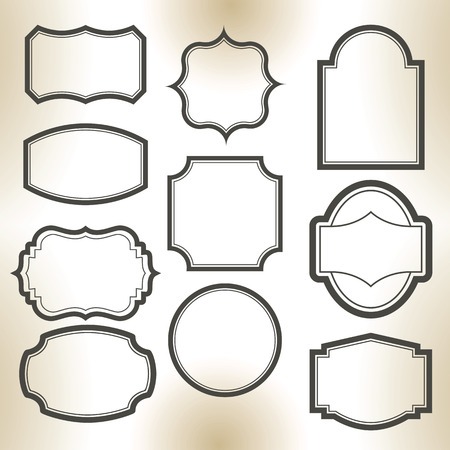 Big elegant frame set. Vector illustration. Ilustração