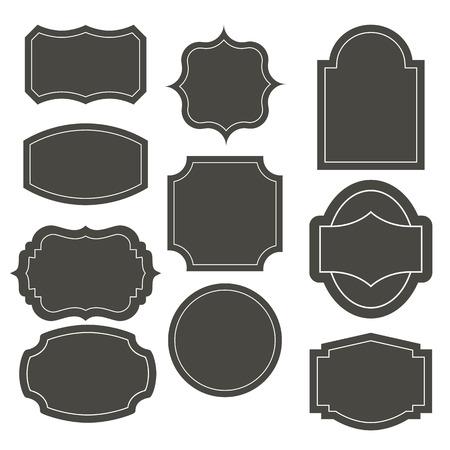 Big elegant frame set. Vector illustration. Banco de Imagens - 37733009