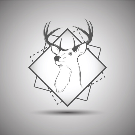 Deer head isolated on background 矢量图像