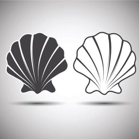 seashell abstract emblem  Vector