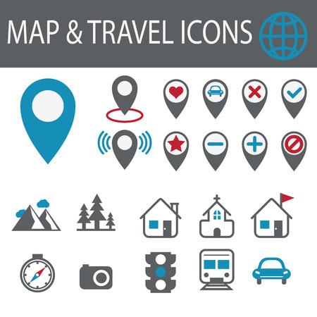 destination: Location and destination vector icons