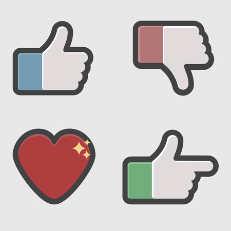 Flat style social network icon for app