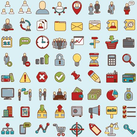communication icons: web icons for business, finance and communication