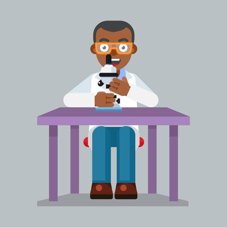 scientist character wearing glasses and lab coat