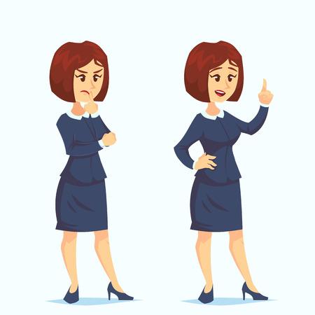 Problem Concept Vector. Thinking Woman. Problem Solving. Decision Problem, Solving Process. Big Problem. Solve, Dilemma. Isolated Flat Cartoon Illustration Ilustração
