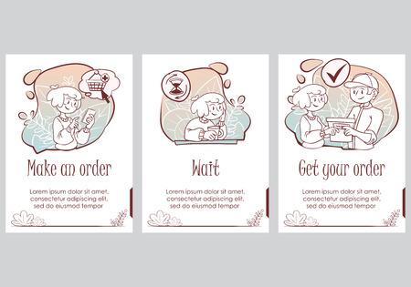 Presentation slide template. Hand drawn cute doodle Shopping concept illustration. Vector Illustration - Vector Banque d'images - 120278561