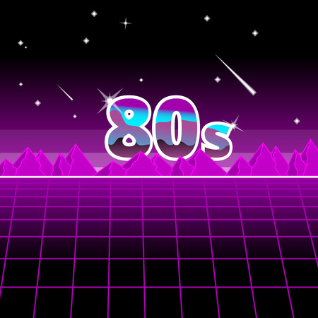 80's style background Illustration