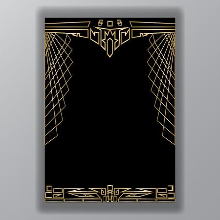 Art decor web Indian motive geometric frame