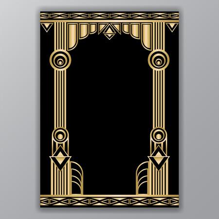 An art decor  columns a4 template isolated on plain gray background. 일러스트