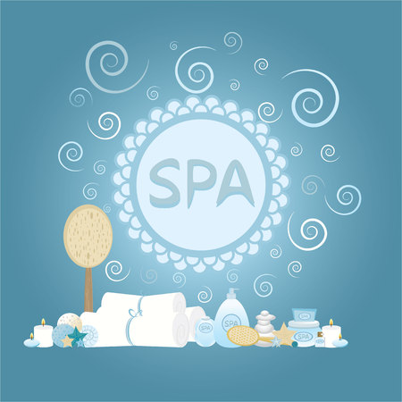 Cute cartoon vector concept for spa, massage salon ,  beauty salon