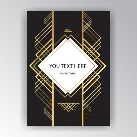 Art deco ,Art novo pate template , middle east style, modern geometric background for print and web  Gatsby style.