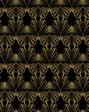 Art Deco page template, octagonal geometric pattern with zoom in effect for print and web decoration, creative style background.