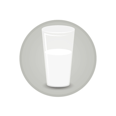 Glass of soya milk fresh and healthy vegeterian diet  for print and web decoration icon , cartoon illustration . Illustration
