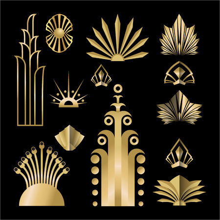 Art Deco / Nuvo Set Of DIY Elements For Your Design.