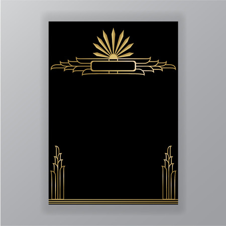 Beautiful art deco pattern