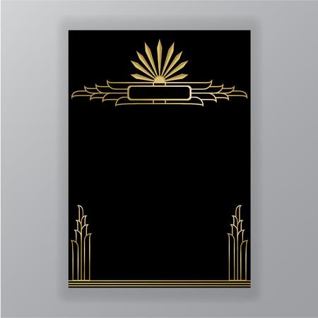 Schönes Art-Deco-Muster Vektorgrafik