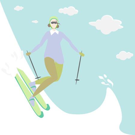 Vector art illustration of winter sports.