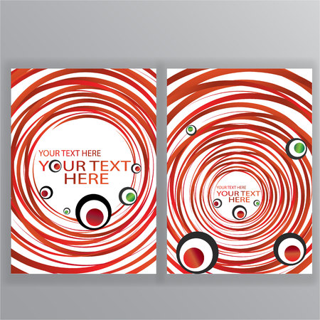 Sushi menu vector  template, cover back  and front with maki rolls and 3d red lines on white ,for web and print  イラスト・ベクター素材