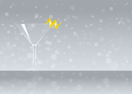 Official cocktail icon, The Unforgettable Tuxedo cartoon illustration for bar or restoration  alcohol menu in elegant style on mirrored surface.