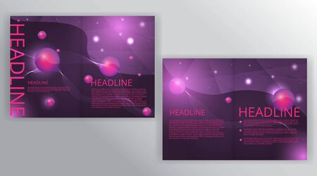 Polygonal purple wavy simple futuristic shiny  background decoration, with primitives, supremacist and open space for text, vector illustration for web and print  Çizim