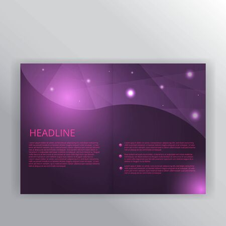 Polygonal purple wavy simple futuristic shiny  background decoration, with primitives, supremacist and open space for text, vector illustration for web and print