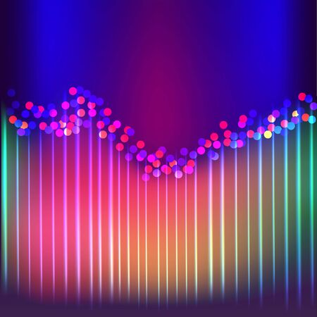 Aurora borealis shiny, abstract vector aurora australis background  for web and print , cute abstract  a natural light display in the sky. Иллюстрация