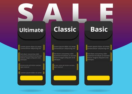 Abstract sale banner, creative flyer design, yellow and black luxury discount coupon for web and print offers.