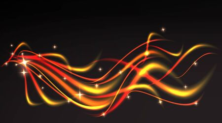 Flame curls, with twinkles, glitter luxury abstract background for web and print decoration, elegant metallic magic firework blurred, motion backdrop