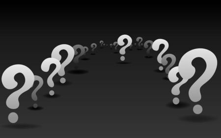 Question signs When word, FAQ  help. problem solve  realistic vector illustration of ask question mark, 3d shapes.