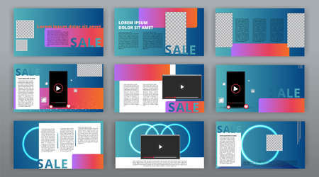 Trendy website templates, minimal presentation design. Multipurpose template for presentation slide, brochure cover, flyer and leaflet, corporate report, marketing, advertising, annual report, banner. Illustration