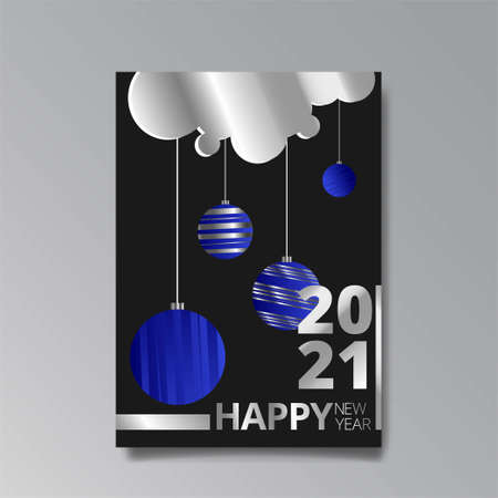 2021 happy new year invitation luxury template, shiny glitch holographic creative design, hipster young neon and gradient colors, realistic rainbow sheen