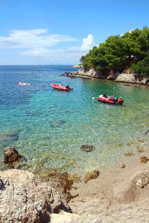 adriatic: Boats on Adriatic Sea on Peljesac, Zuljana. Croatia