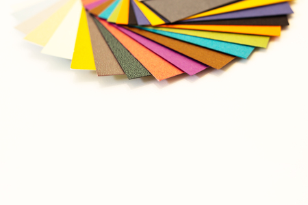 Multicolored paper swatch palette. Catalog paper for printing