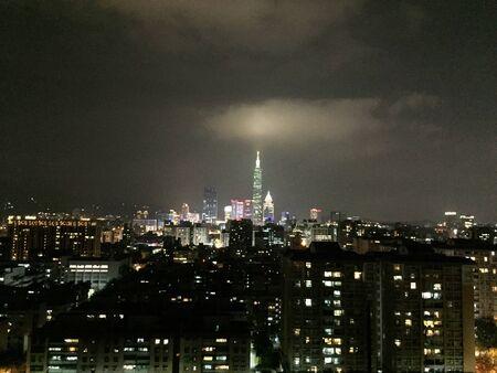 Aérea de la opinión de la noche Foto de archivo - 40264737