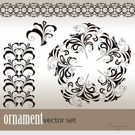 abstract vector background with a flower ornament