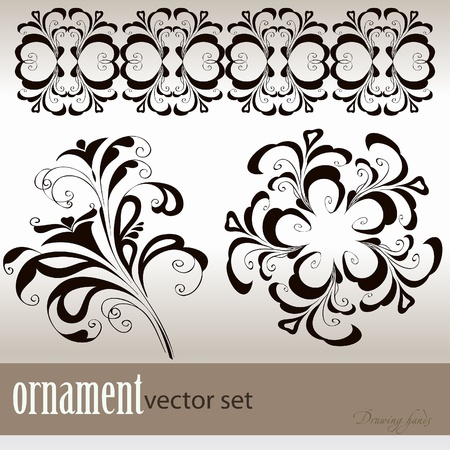modulations: abstract vector background with a flower ornament