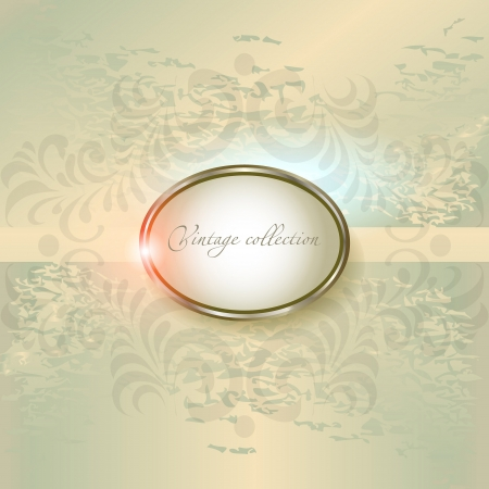 at ease: abstract vector vintage background with a geometrical ornament