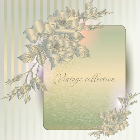 dark beige: abstract vector vintage background with a flower ornament