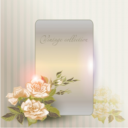 modulations: abstract vector vintage background with a flower ornament