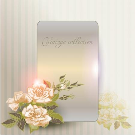 lichteffekte: abstract vector vintage Hintergrund mit einer Blume Ornament
