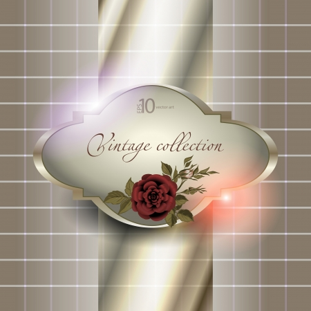 effects of lighting: abstract vector vintage background with a flower ornament