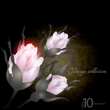 gilding: abstract vector vintage background with a flower ornament