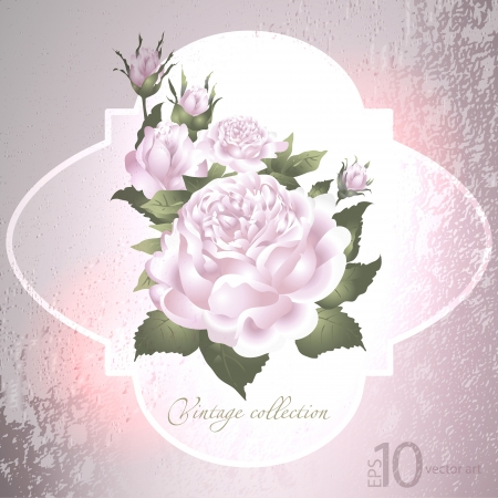 abstract vector vintage background with a flower ornament Vector