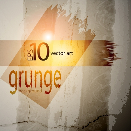 grunge background: abstract vector grunge background with a geometrical ornament